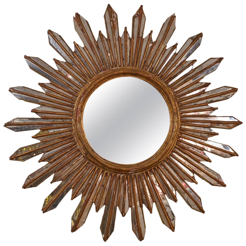 Italian sunburst mirror at 1stdibs for Sunburst mirror