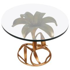 Gilded Sculptural Side Table by Arthur Court