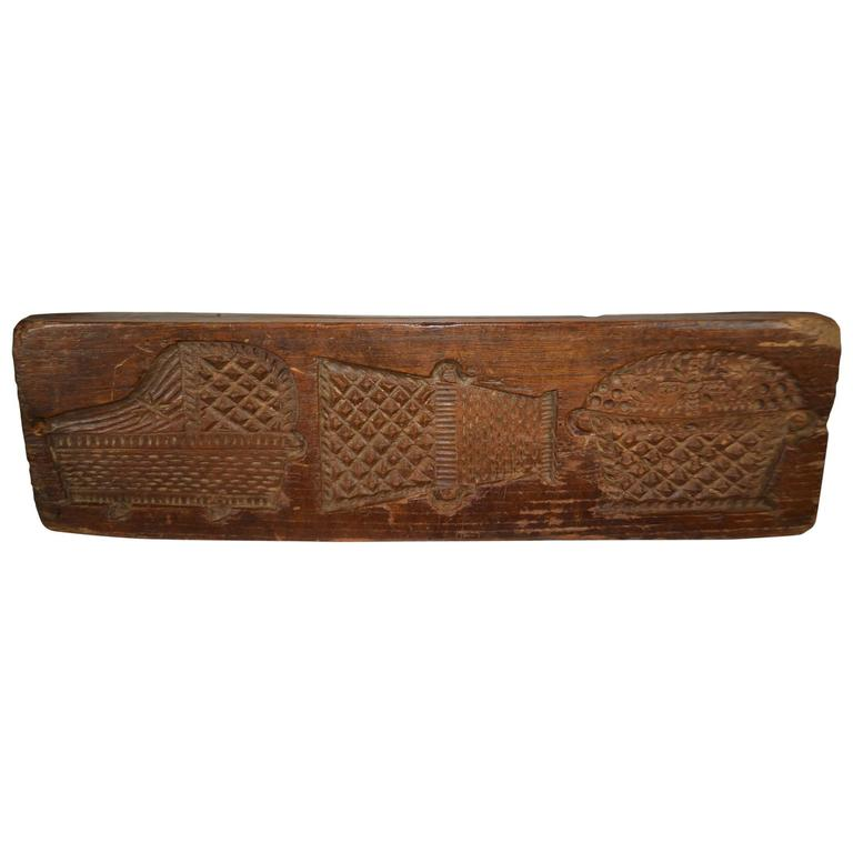 Double sided wooden gingerbread mold at stdibs