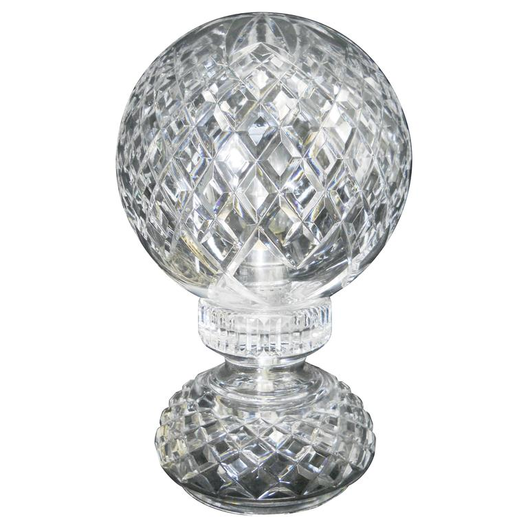 Rare First Style Waterford Alana Pattern Night Lamp At 1stdibs