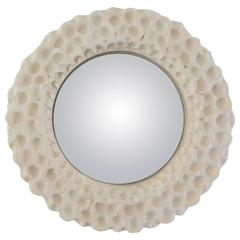 Ceramic Convex Mirror by Atelier Buffile, France, circa 1980