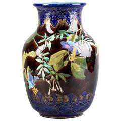 French Faience Art Nouveau Pottery Vase, circa 1900
