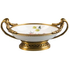 French Gilt Bronze-Mounted Meissen Saucer, circa 1760