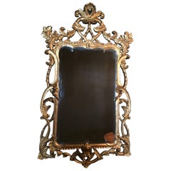 Monumental Carved Wood Gilt Mirror