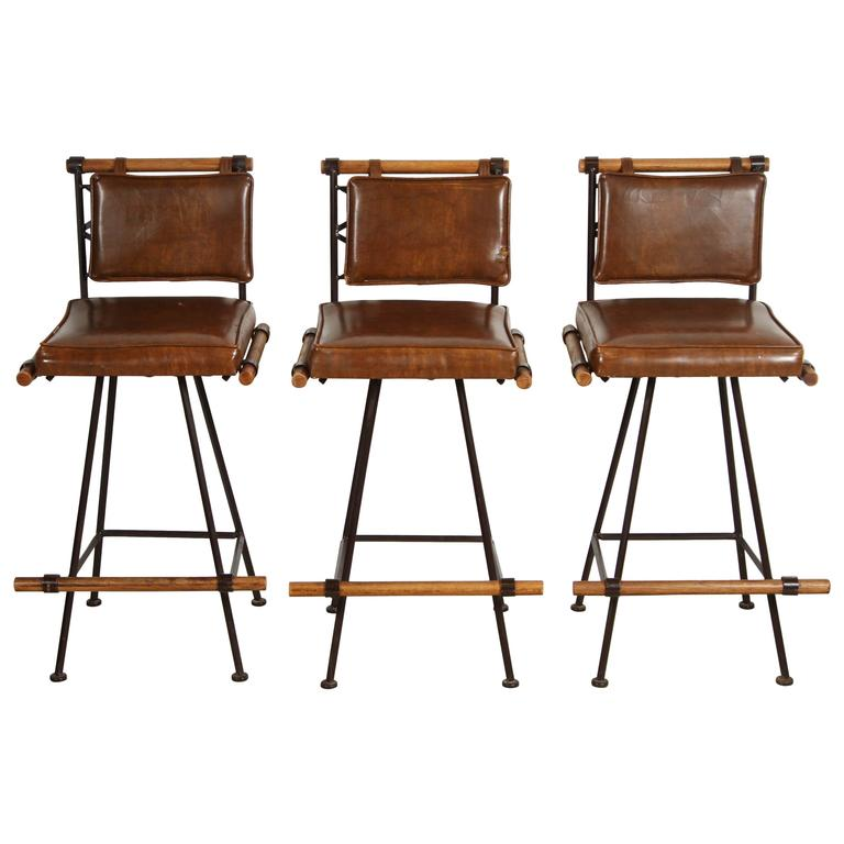 Set Of Three Stools By Inca Furniture At 1stdibs