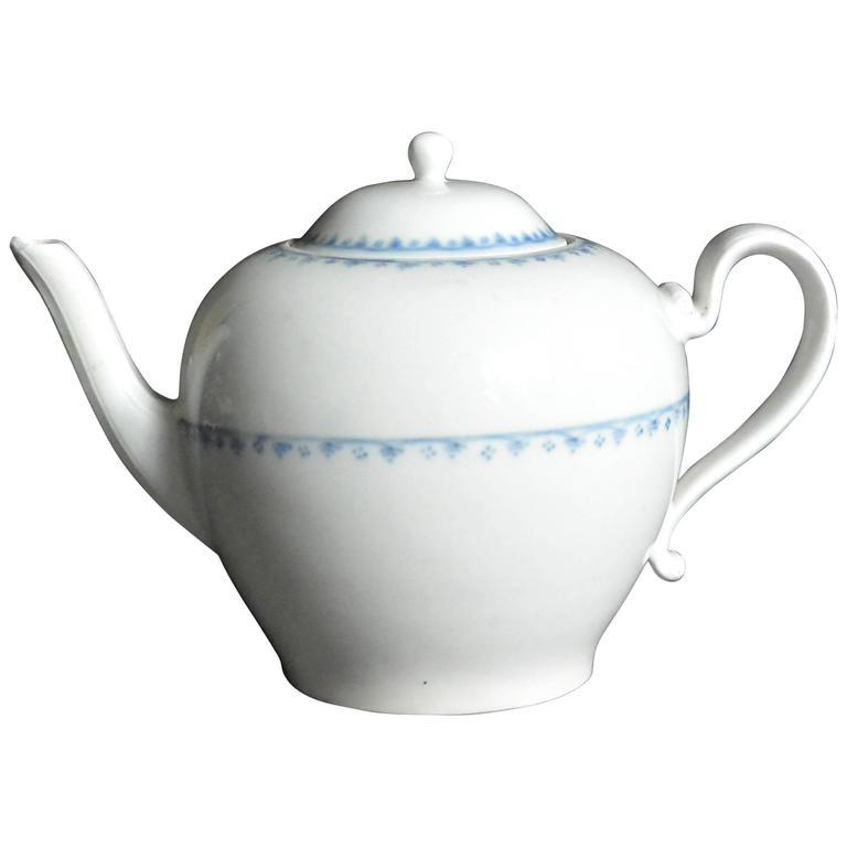 Blue and White Vienna Porcelain Teapot