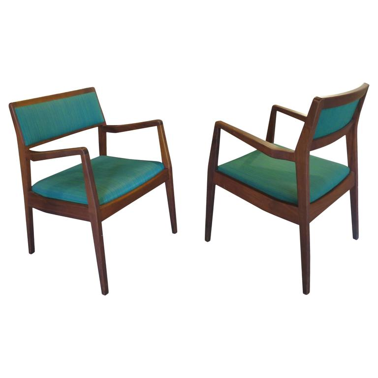 """Pair of Jens Risom """"Playboy"""" Armchairs"""