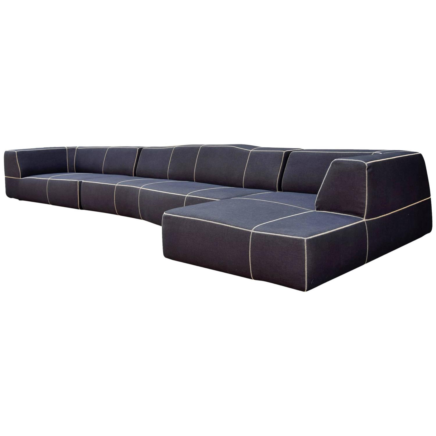 b b italia bend sofa by patricia urquiola at 1stdibs. Black Bedroom Furniture Sets. Home Design Ideas
