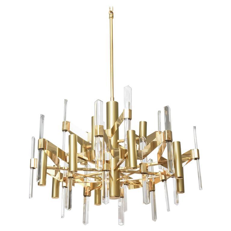 big gold chandelier large gold laquered chandelier. Black Bedroom Furniture Sets. Home Design Ideas