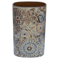 Large Oval Cylinder Ceramic Vase by Royal Copenhagen