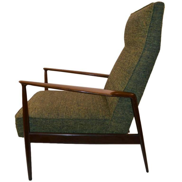 Midcentury High Back Lounge Chair at 1stdibs
