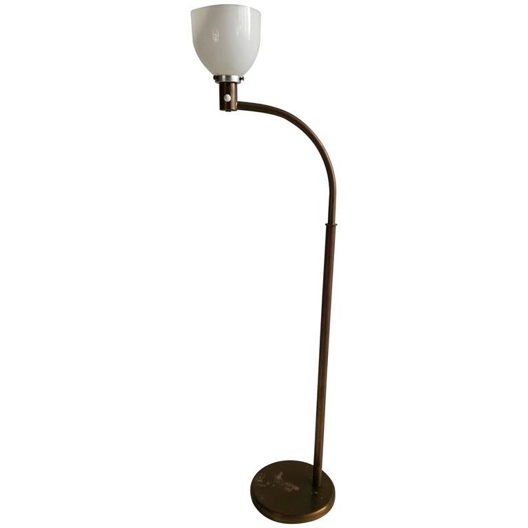 Early 1930s Walter Von Nessen Floor Lamp, Art Deco