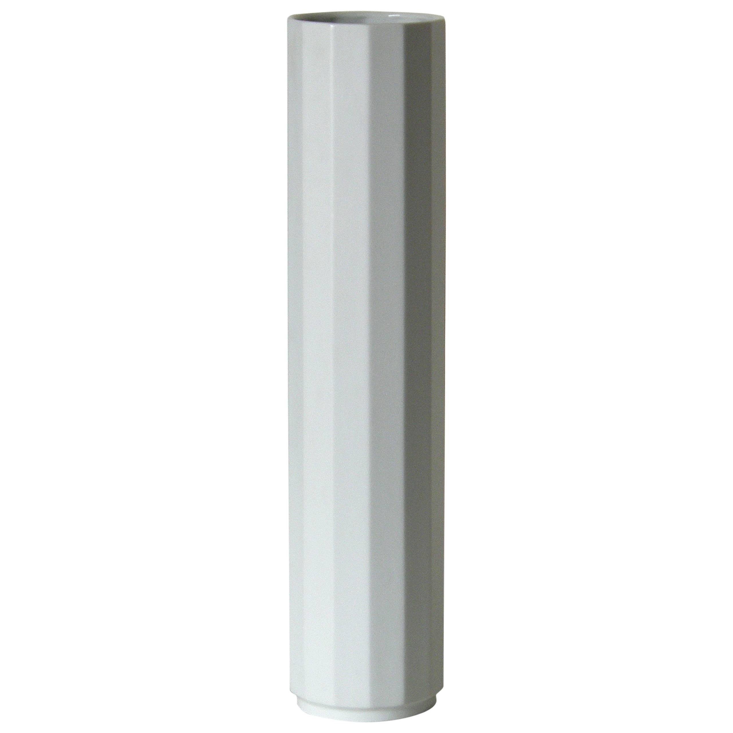 Nineteen Inch Tall Rosenthal Columnar Form Porcelain Vase Germany