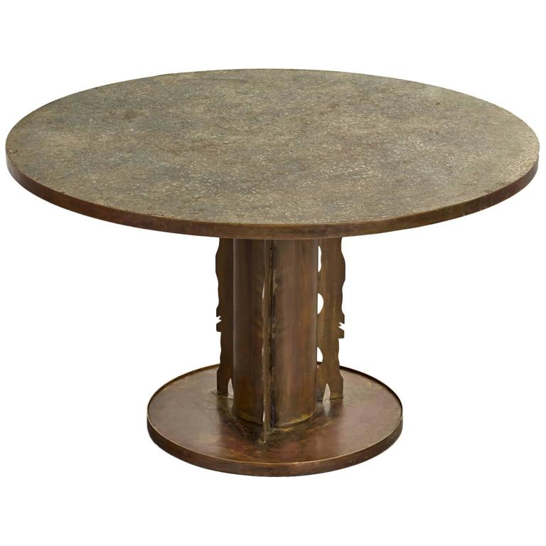 Phillip and Kelvin LaVerne Etruscan Dining Table, 1965