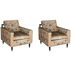 Pair of W & J Sloane Lounge Chairs in the Style of Harvey Probber