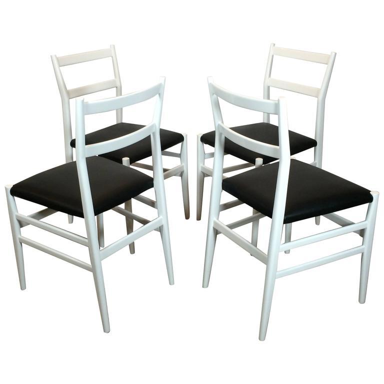 Set of Four Gio Ponti Leggera Chairs by Cassina 1