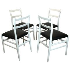 Set of Four Gio Ponti Leggera Chairs by Cassina