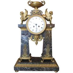"French Clock Napoleon Bonaparte ""Retour d'Egypt"""