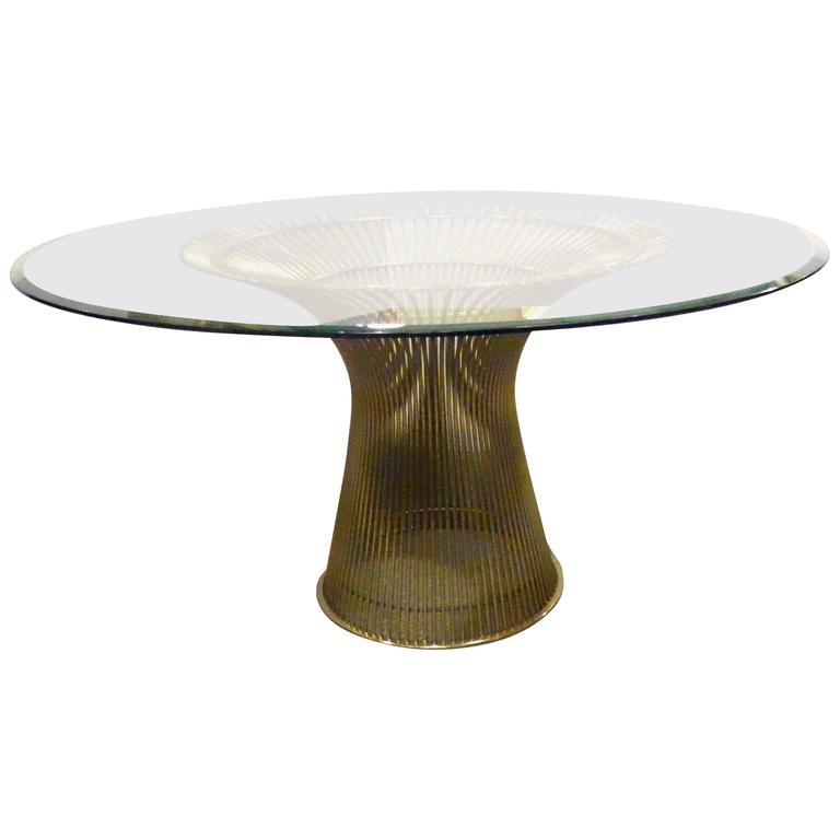 Warren platner dining table for knoll at 1stdibs for Table warren platner