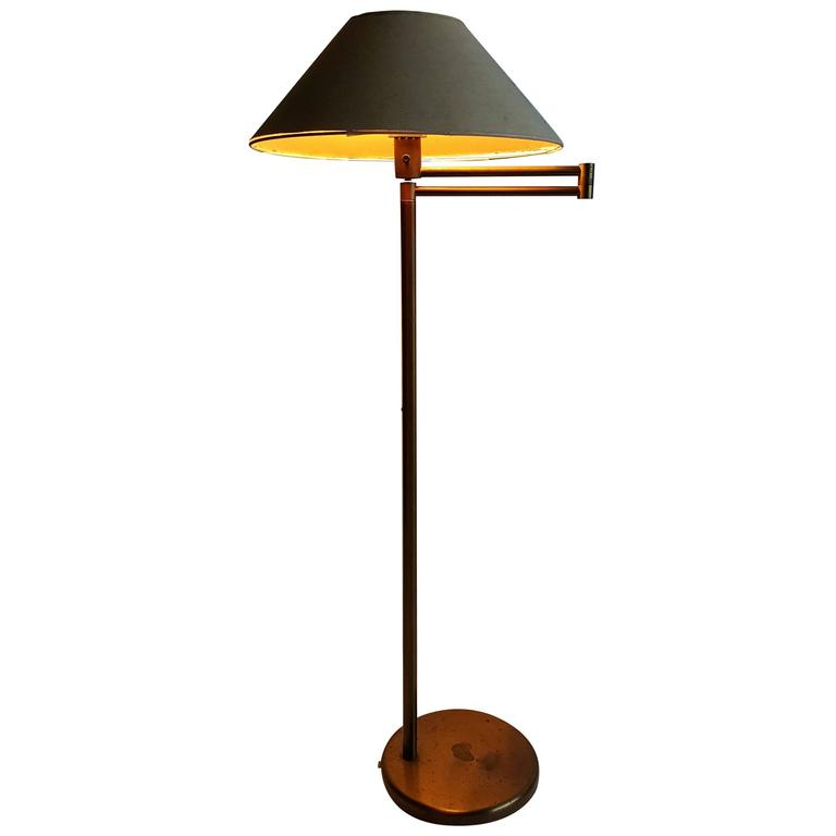 Early walter von nessen bronze swing arm floor lamp for sale at 1stdibs early walter von nessen bronze swing arm floor lamp for sale mozeypictures Image collections
