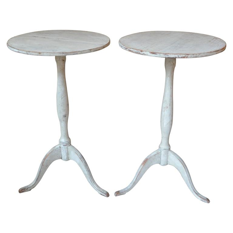 Pair of Swedish Early 19th Century Pedestal Tables