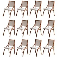 Set of 12 Dining Chairs by Gregotti, Meneghetti & Stoppino