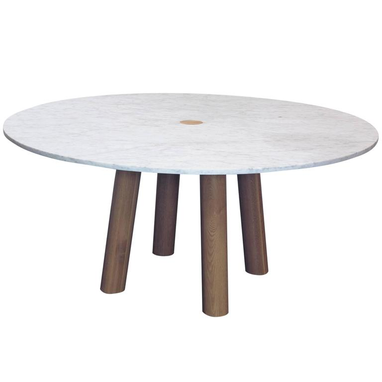 fort standard column dining table round at 1stdibs
