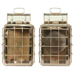 Pair of 1920s Cabin Lanterns