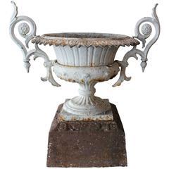19th Century Cast Iron Double Handled Urn