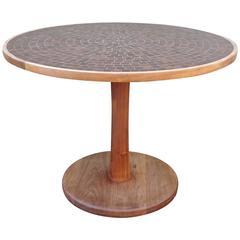 Scarce 1960s Martz Ceramic and Teak Dining Table
