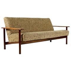 Danish Midcentury Rosewood Three-Seat Sofa, Denmark, 1950s-1960s