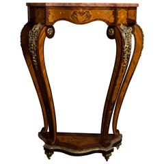 Neoclassical Marble-Topped Pedestal