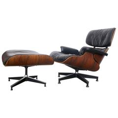 Herman Miller Eames Rosewood 670/671 Lounge Chair and Ottoman