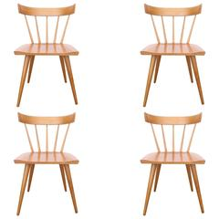 Four Paul McCobb Spindle Back Dining Chairs