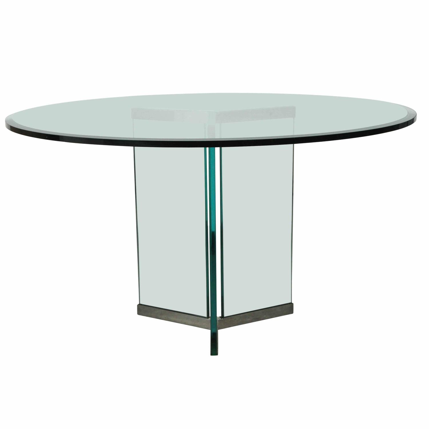Triangular base dining table by pace for sale at 1stdibs for Triangle shaped dining room table