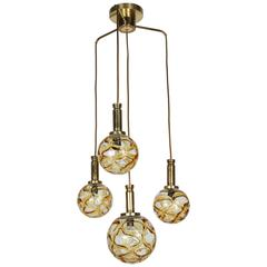 Organic Globe Four-Light Fixture by Doria