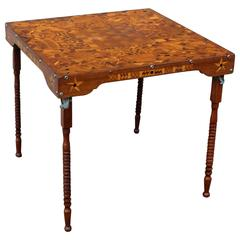 Outstanding Inlaid Folding Game Table