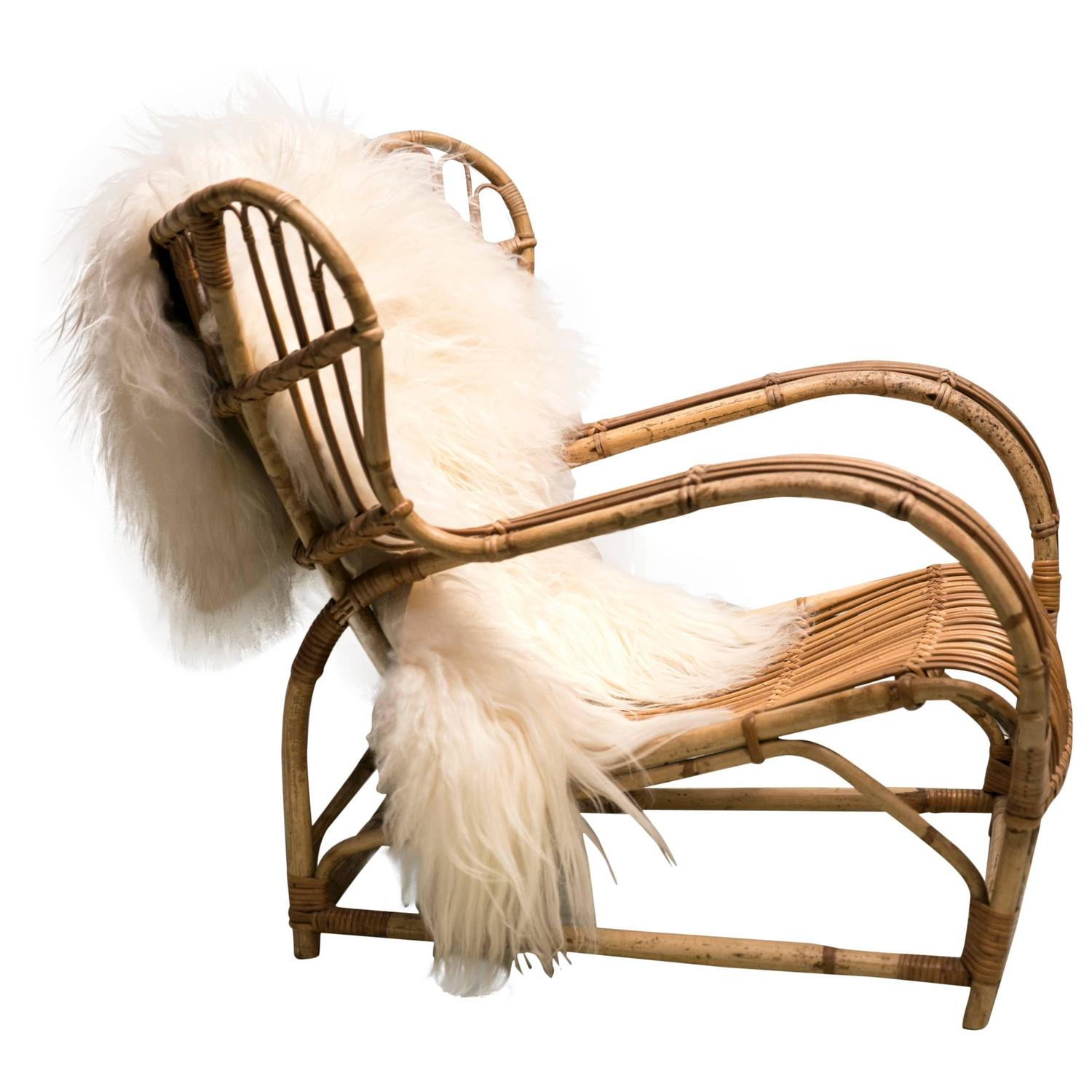 "Sculptural Bamboo ""VB 136"" Lounge Chair by Viggo Boesen For Sale"