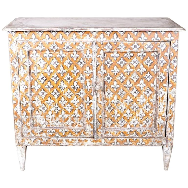 louis xvi style provencal painted buffet bas at 1stdibs. Black Bedroom Furniture Sets. Home Design Ideas