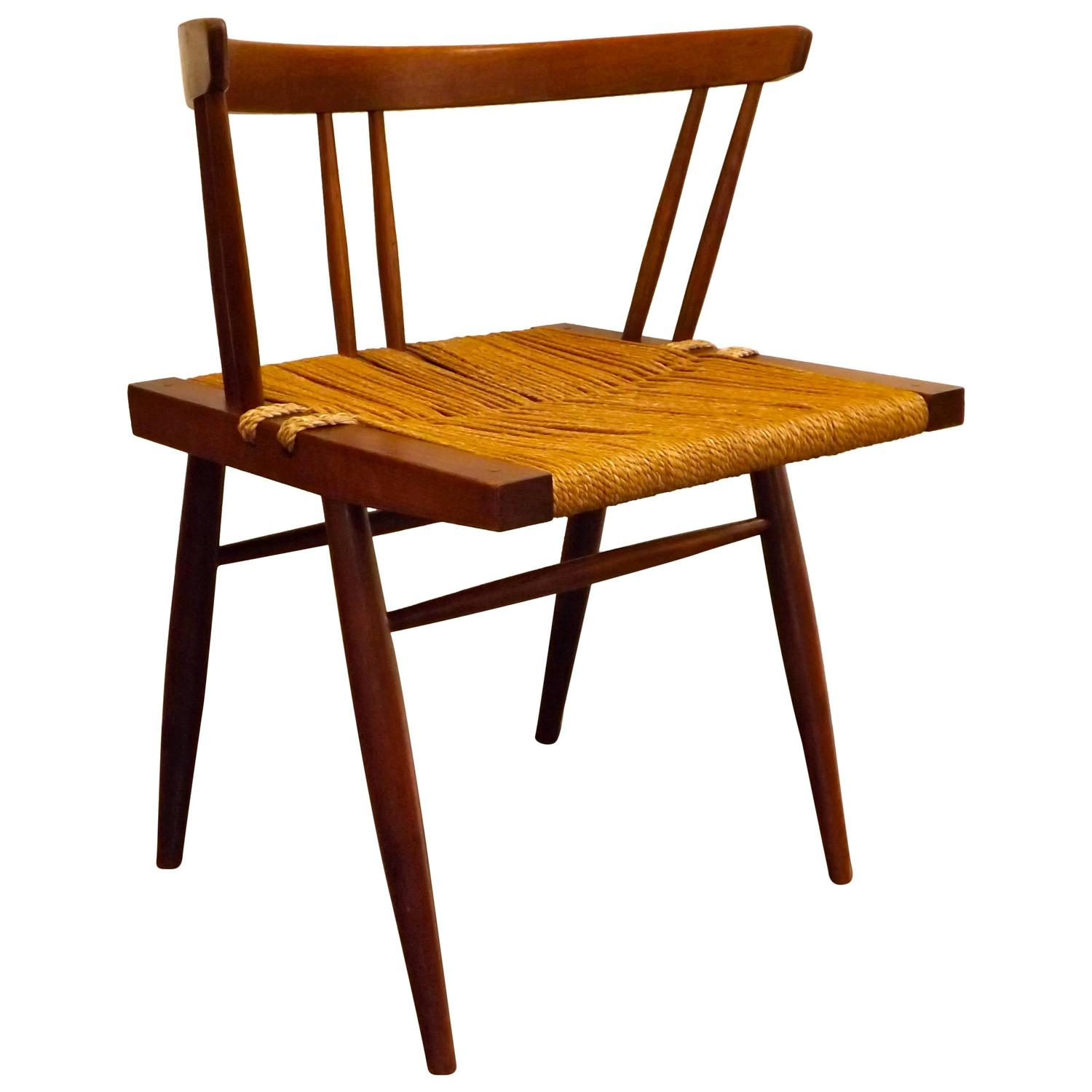 George Nakashima Grass Seat Chair For Sale At 1stdibs
