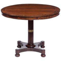 Regency Brass-Inlaid Rosewood Center Table