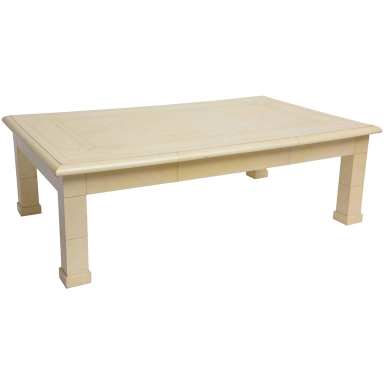 Jean roger architectural coffee table at 1stdibs for Architectural coffee table