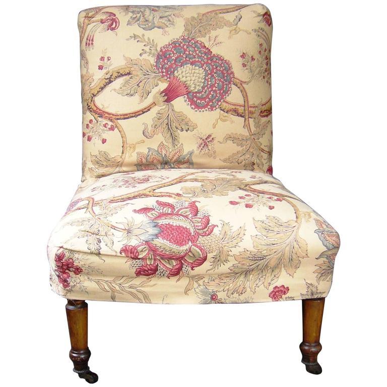 English slipper chair at 1stdibs