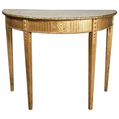 George III Giltwood Console Table