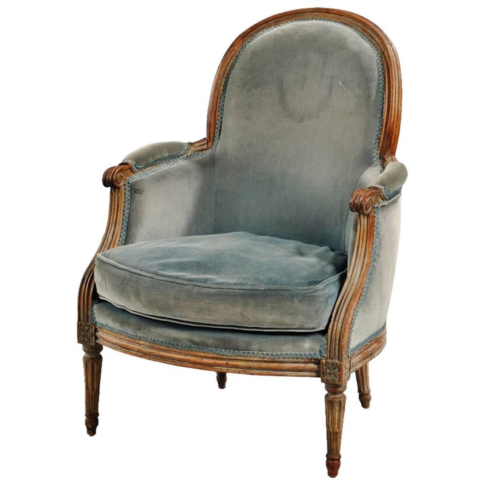 18th century louis xvi bergere at 1stdibs. Black Bedroom Furniture Sets. Home Design Ideas