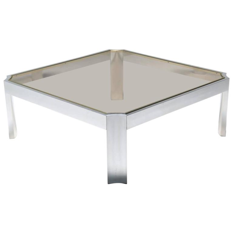 Mid-century Aluminum Coffee Table.
