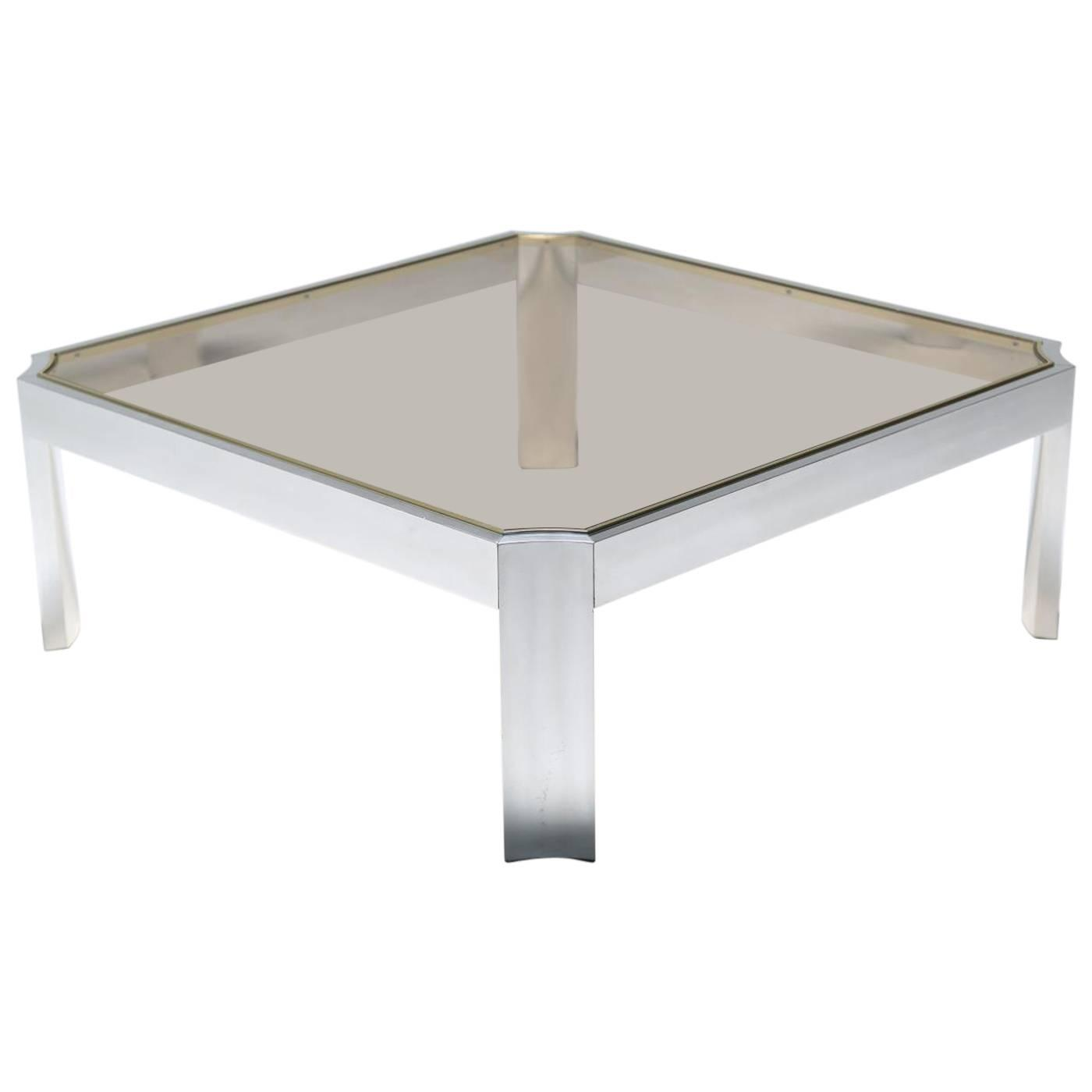 Mid century aluminum coffee table for sale at 1stdibs geotapseo Gallery
