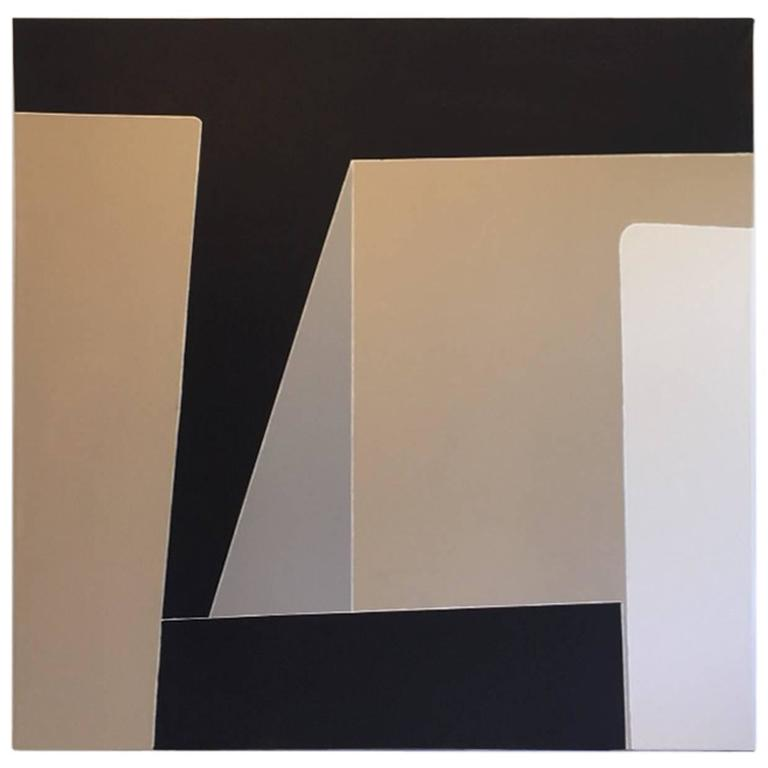 Contemporary Black, Grey and Beige Abstract Artwork