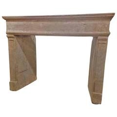 Louis XIII Antique Limestone Mantel