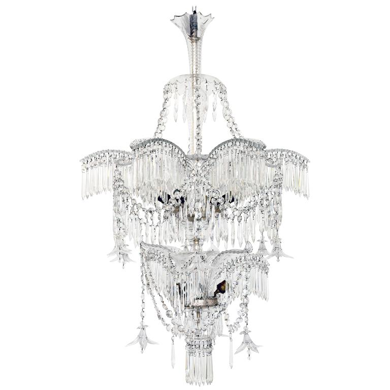 Crystal palm tree chandelier 1920 for sale at 1stdibs crystal palm tree chandelier 1920 for sale aloadofball Choice Image
